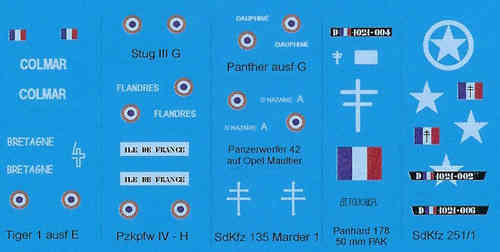 "DECALS FRANCIA FFI ""GROUPE BESNIER""1945"