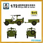 JEEP WILLY & TRAILER(1Und)
