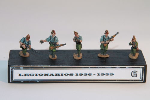 INFANTRY OF THE  SPANISH LEGION 1936-39.